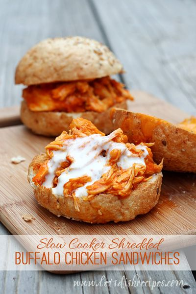 Friends, these shredded Buffalo chicken sandwiches are easily the most well received meal I've served up in recent memory. Granted, my husband and kids all like spicy food, but still, they couldn't...