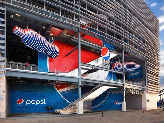 Decoración de 'MetLife Stadium' para la Super Bowl 2014