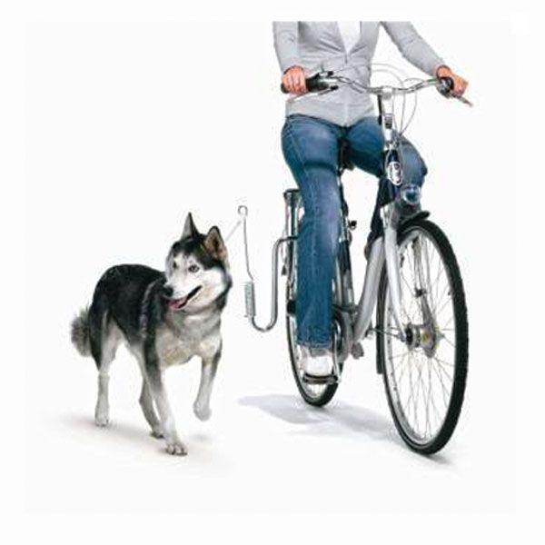 Springer til hund gjør sykkelturen både enklere og tryggere. Fjæringen i stål sylinderen gir både stabilitet og bevegelse. Sikkert, trygt og enkelt!
