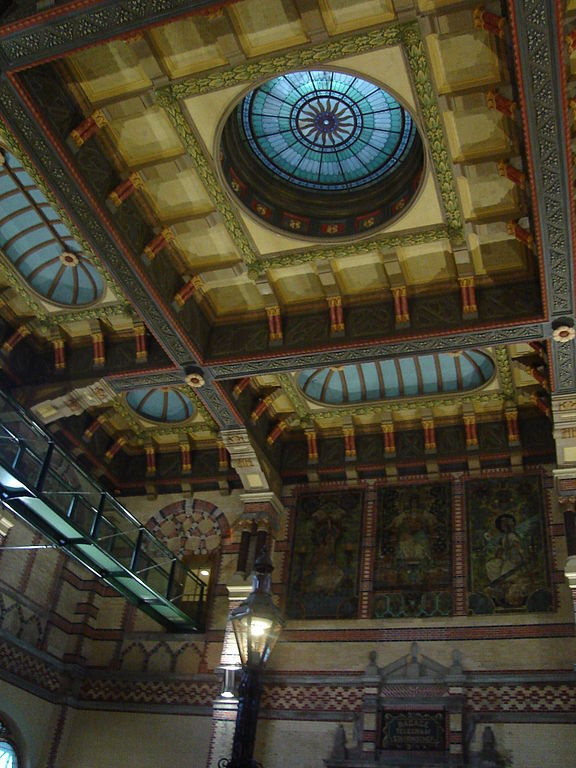 Central Station at Groningen, The Netherlands. Ornaments are made of papier stuc.