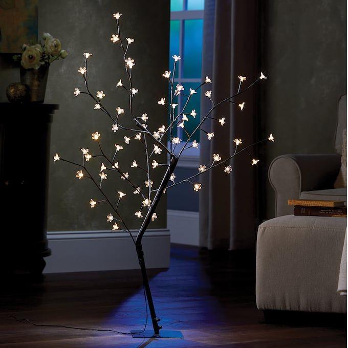 Led Cherry Blossom Tree Floor Lamp Midnight Velvet Tree Floor Lamp Floor Lamp Blossom Trees
