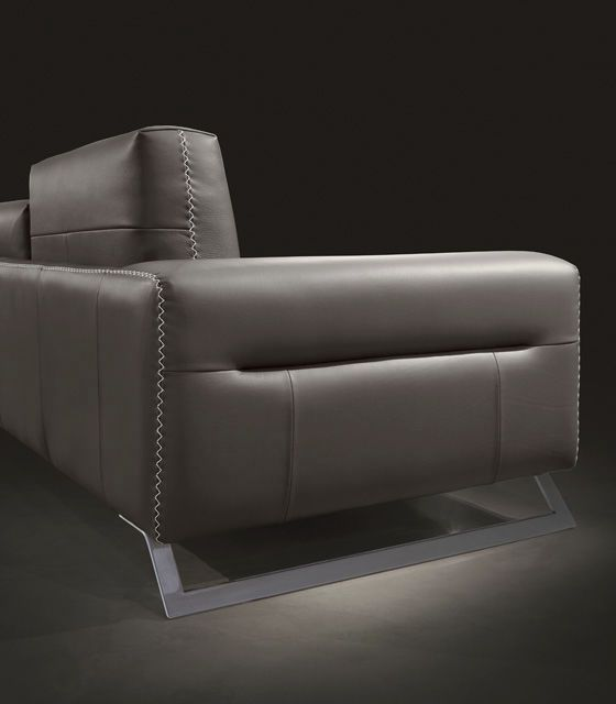 modular sofa contemporary leather multiplace twist