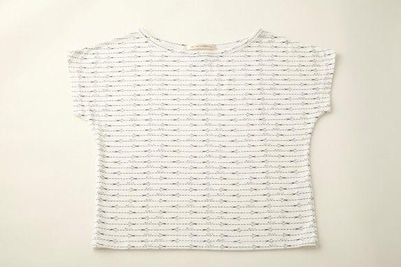 商品名 キリトリ線ボーダーTシャツ(レディース)サイズ M素材  綿100%注)決して切り取らないで下さい。 ハンドメイド、手作り、手仕事品の通販・販売・購入ならCreema。