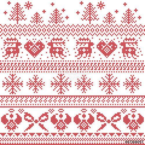50 best scandinavian christmas cross stitch images on. Black Bedroom Furniture Sets. Home Design Ideas