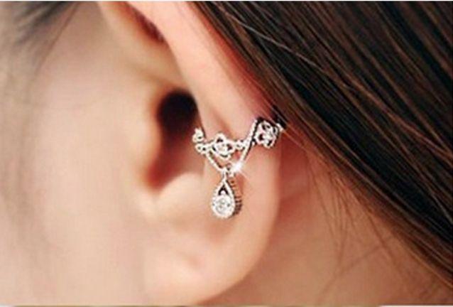 1Pc Rhinestone Ear Cuff Cute Bohemia Mask Design # 23126