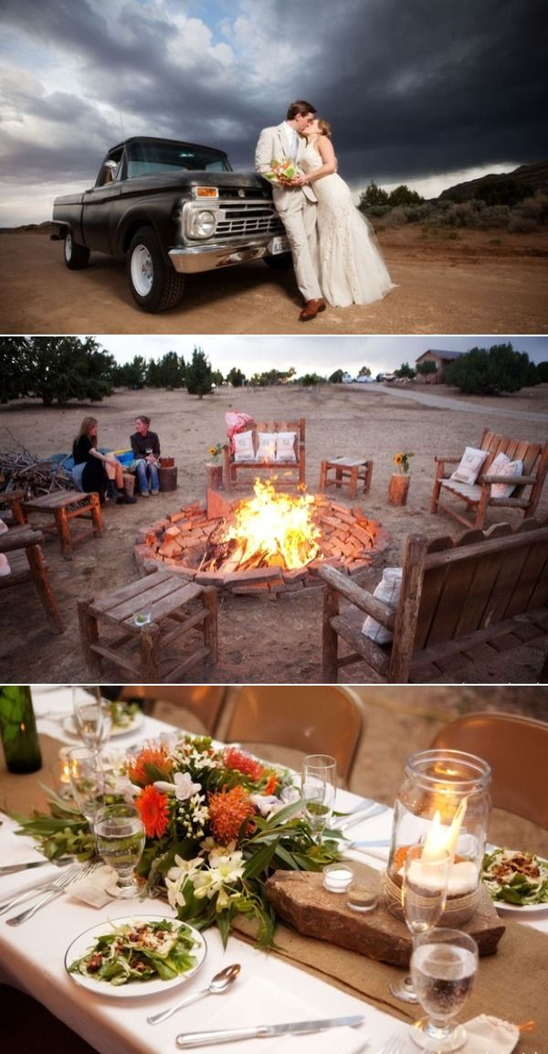 How to build a rustic fire pit and bonfire wedding - Google Search