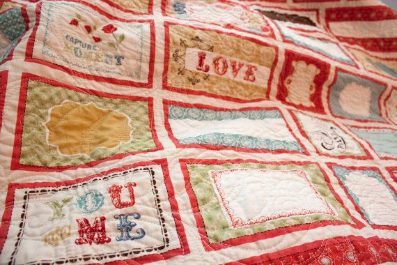 Wedding Guest Quilt- Guests sign your quilt instead that you can cuddle up with forever instead of a book.