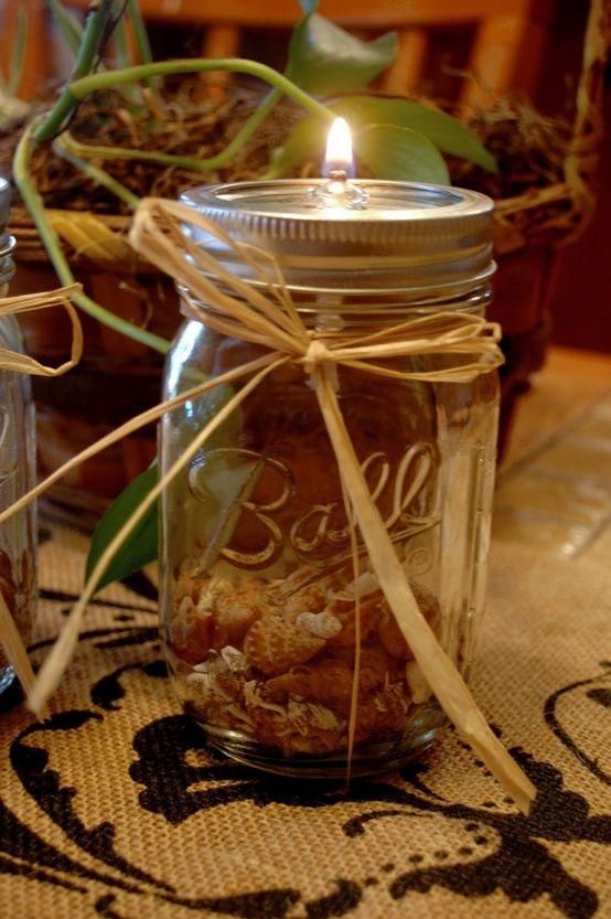 MsDawn'sBlog   Make Mason Jar Oil Candles