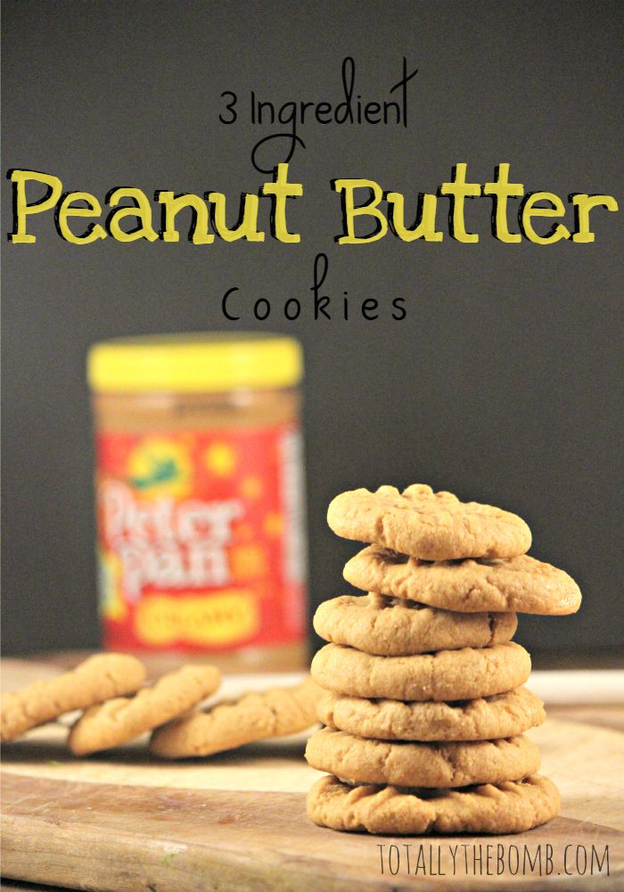 These 3 Ingredient Peanut Butter Cookies are so simple that with very little guidance your child can make cookies to share with their friends. Enjoy!
