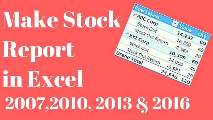 Make Stock Inventory Report in Excel ☑ Tips  Tricks Pinterest