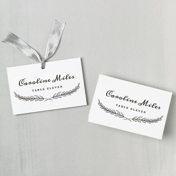 Best 25+ Place card template ideas on Pinterest Free place card - name card format