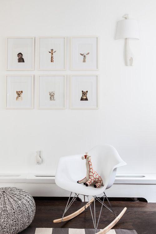 Sissy & Marley kinderkamer #childrenroom #animals #white