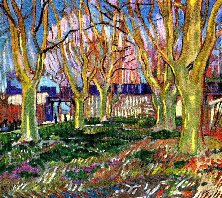 Vincent van Gogh: Avenue of Plane Trees near Arles Station