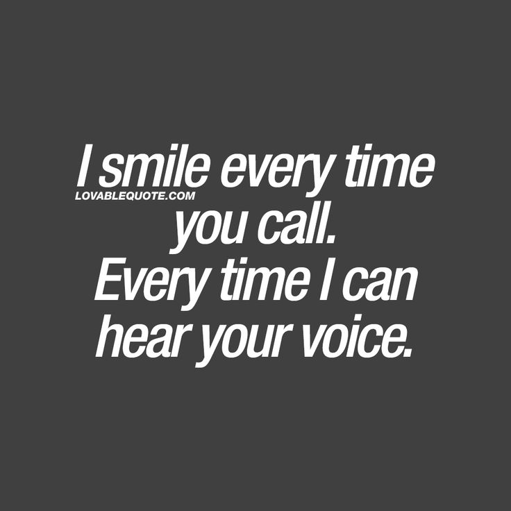 ❤️ Love when you surprise me and I get to hear your voice...