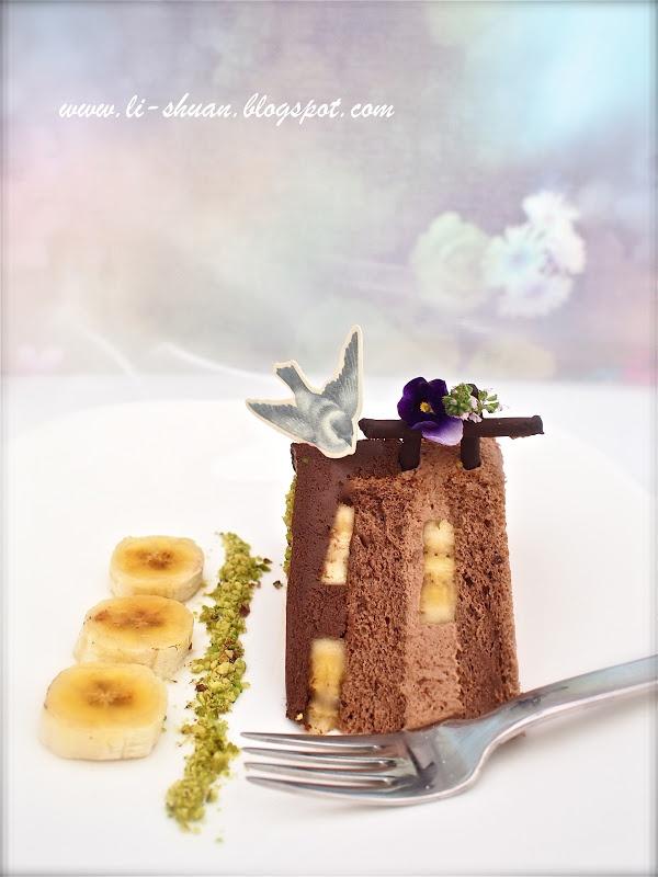 Chocolate Banana Mousse Cake