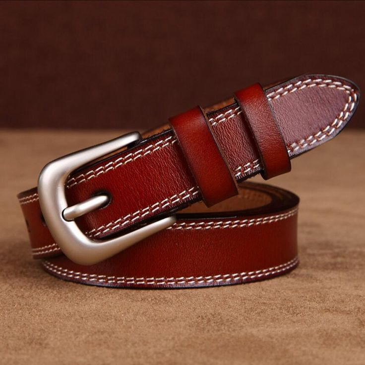 [TG] New Fashion High Quality Genuine leather women belt  cow leather belt for women cow leather strap pin buckle lady belts