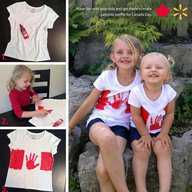 Awesome Canada Day t-shirt idea, and so simple to make!