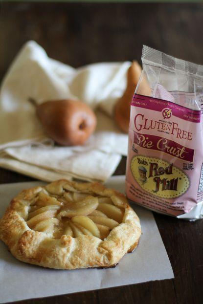 GF Almond Pear Galette | Bob's Red Mill: Almond Pears, Pears Almond, Glutenfr Pears, Delicious Gluten Fre, Pears Galette, Gf Almond, Gluten Free, Gluten Fre Pears, Almond Galette