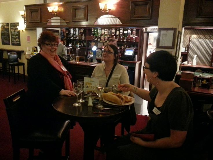 Sue Esplin, Naomi Broad, gammon roll, chips & gravy! #L4G #Redcar Stylee at #Link4Drinks The Park 27th Mar.2014