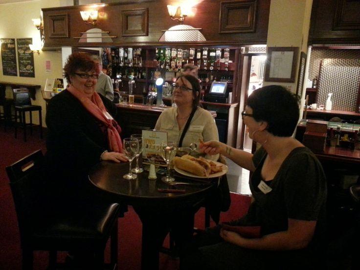 Sue Esplin, Naomi Broad, gammon roll, chips & gravy! #L4G #Redcar Stylee at #Link4Drinks The Park 27th Mar.2014