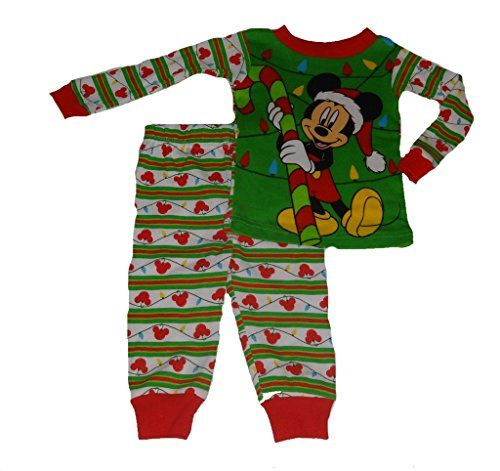 Disney Mickey Mouse Boys Christmas Holiday Baby Toddler Girls Pajamas 24m -- Check this awesome product by going to the link at the image.