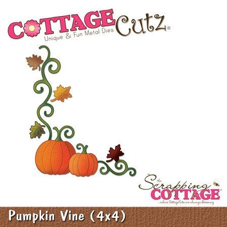 Cottage Cutz-4x4 Dies-Pumpkin Vine,$19.95