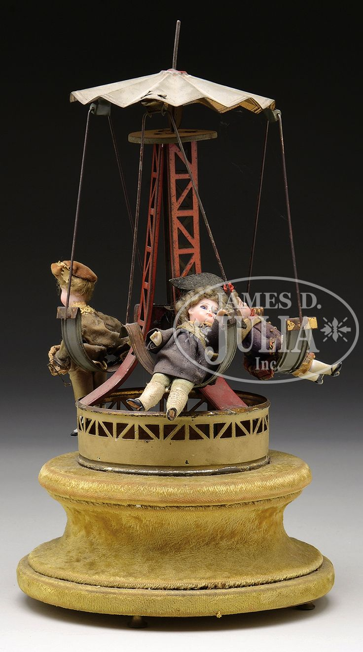 Vintage Musical Toys : Musical windup carousel vintage antique toys