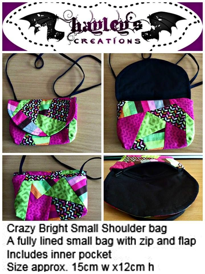 Handmade by Hayley's Creations Crazy Bright Small Shoulder bag