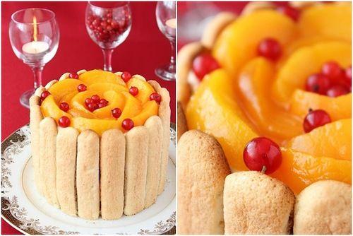 Полное лукошко ягод - Персиковая Шарлотт «Ривьера»