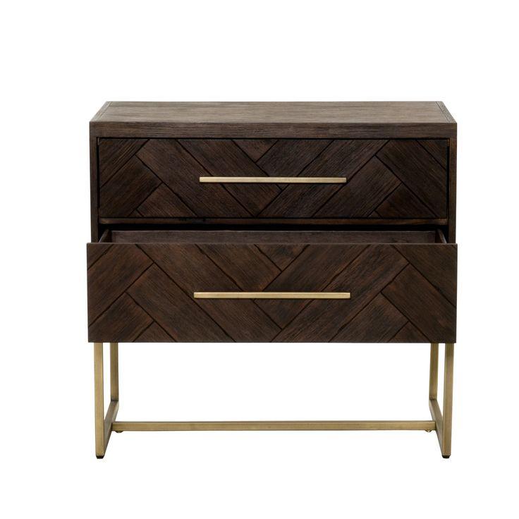mosaic nightstand rusticjava brushedgold nightstand