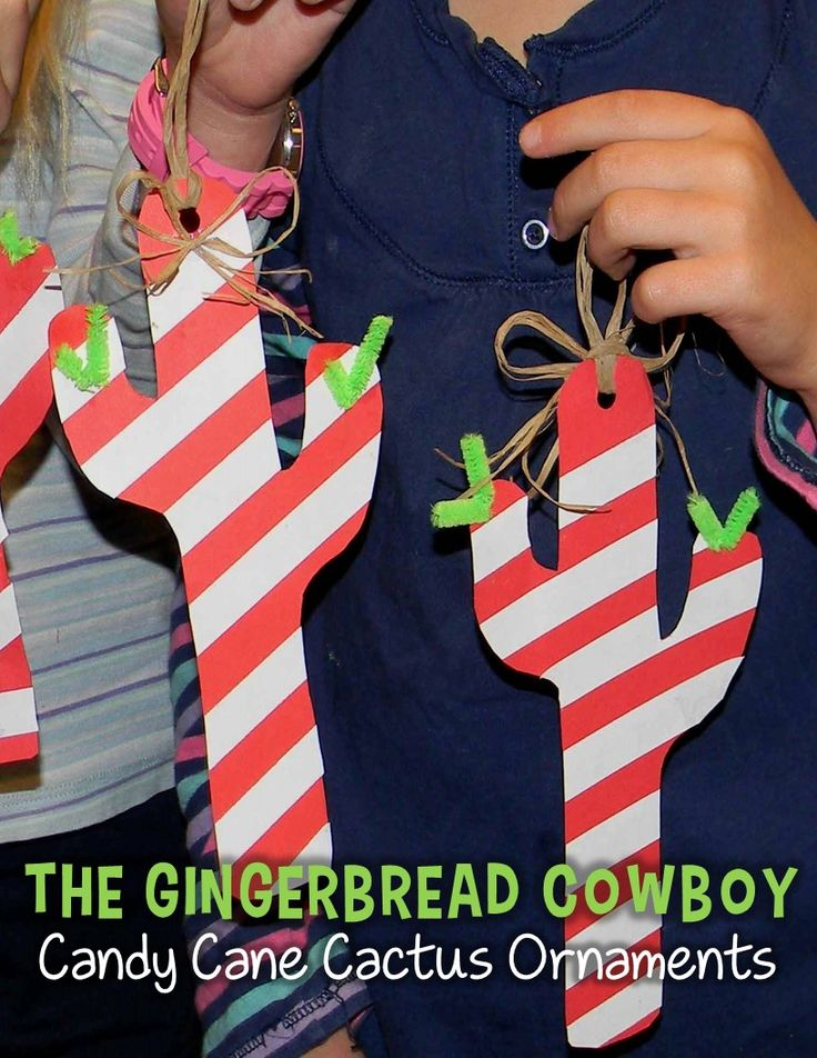 These easy candy cane cactus ornaments are so fun to make after reading The Gingerbread Cowboy! They're always one of my students' favorite gingerbread activities!