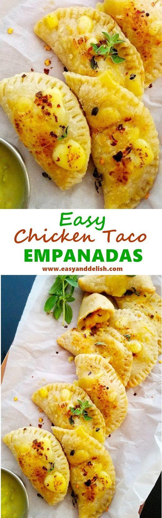 Easy Chicken Taco Empanadas to celebrate Fiesta, Cinco de Mayo, or for cocktail parties and sport games. So good!  #SoCu #ad #GoAutentico (good recipes taco)