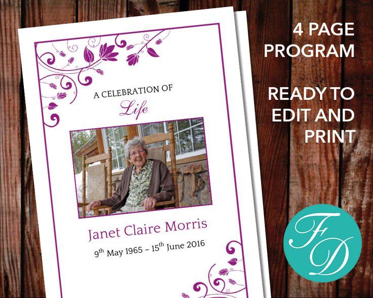 Best Funeral Programs For Women  Programs  Prayer Cards