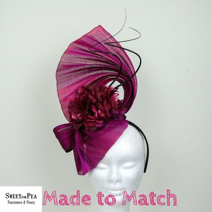"""Eva"" - Made to Match Fascinator - Sweet Pea Fascinators & Finery"