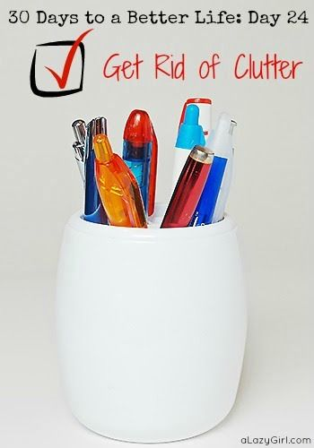 111 best organization tips and tools images on pinterest for Ways to get rid of clutter