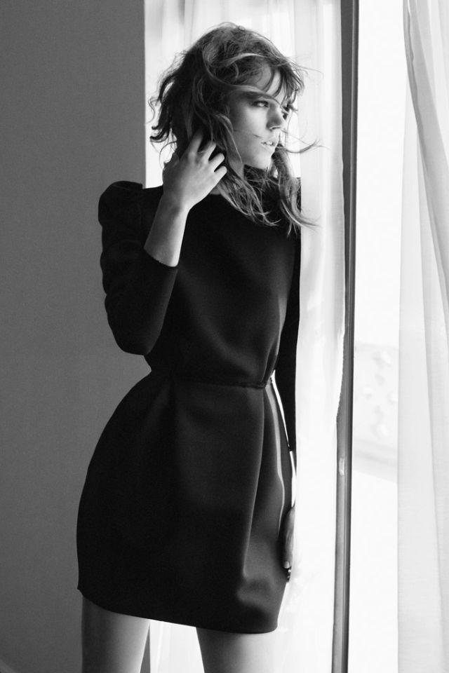 Freja Beha Erichsen in the little black dress LBD - essential for any closet, minimal classic elegance