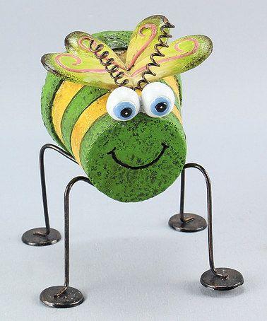 Look what I found on #zulily! Critter Flower Pot Garden Figurine #zulilyfinds