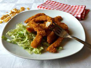 Bastoncini di pollo ai corn flakes, saporiti e croccanti fatti in casa