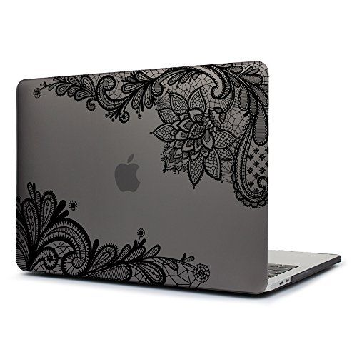 Dongke New MacBook Pro 13 Case 2017 & 2016 Release,Stylish Lace Design for Lady Frosted Sleeve Cover for Apple MacBook Pro 13 inch with /without Multi-Touch Bar (Model:A1706/A1708) (Grey) - High Quality Soft-Touch Plastic Matte Printed Hard Case Series Case Compatible with Newest 2017 & 2016 MacBook Pro 13-inch with or without Multi-Touch Bar and Touch ID Models Number: A1706/A1708 Release in June 2017 & October 2016 Specifications a.Super quality UV printing technology and lovely l...