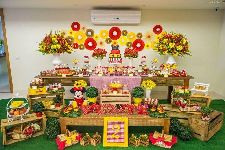 decoracao festa mickey : decoracao festa mickey:para festa infantil de 2 anos no tema Picnic da Minnie. Festa