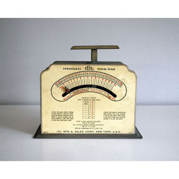 1940s Postal Scale, Industrial Weighing Machine, Rustic Office Decor,... ($35) ❤ liked on Polyvore featuring home, home decor, grey home decor and gray home decor