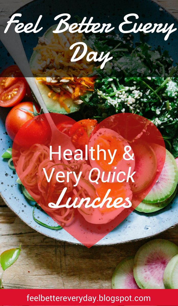 Very quick and delicious healthy lunches to help you meet your healthy eating goals.