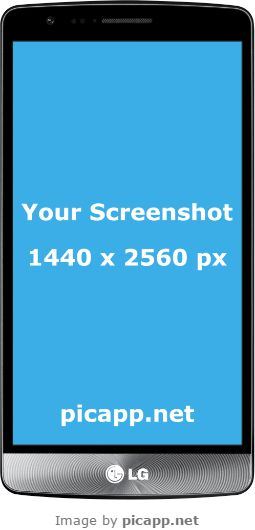Looking for an LG frame to put your app screenshot in? With PicApp.net you can easily place any screenshot in any frame and download to your computer. It's fast and free. #lgG3silver #nobackground #lg #mockup