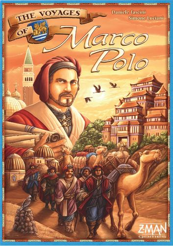 The Voyages of Marco Polo, 8.0 BGG rating. Best with 4 Players. Age 12+. In The Voyages of Marco Polo, each player has a different character and special power in the game. Each round, the players roll their five personal dice and can perform one action each turn with them. After five rounds, the game ends with players receiving victory points; these points are added to the VPs gained during the game.