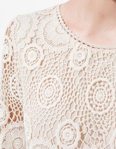 ROBE EN CROCHET - Robes - Femme - ZARA: En Crochet, Dresses