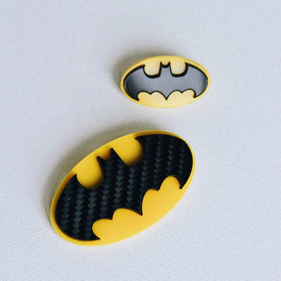 Batman pin brooch carbon acrylic comics superhero pin dc
