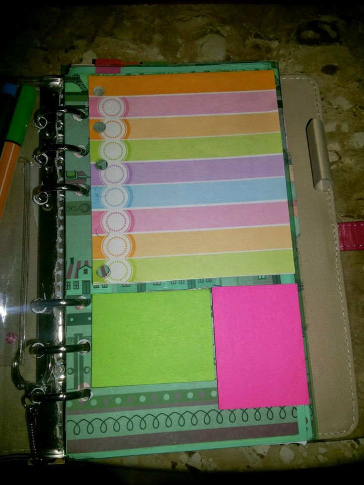 Como fazer caderno de organização
