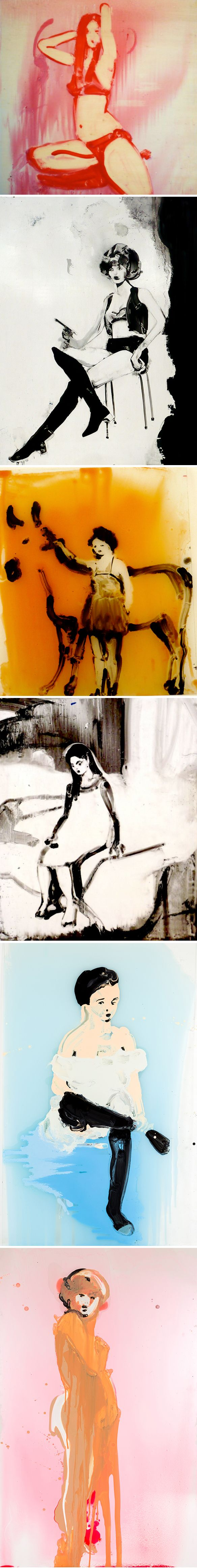 Paintings by Ilona Szalay (some on canvas, some on GLASS)