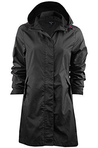 LADIES PLAIN CAGOULE FESTIVAL PARKA RAINCOAT WOMENS PACKABLE PAC A MAC (SIZES 8-24). UK raincoat. It's an Amazon affiliate link.