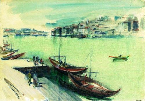 Barcos Rabelos  © Nadir Afonso.